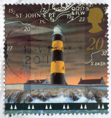 GREAT BRITAIN - CIRCA 1998: stamp printed by Great Britain, shows lighthouse, circa 1998 photo