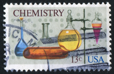 UNITED STATES - CIRCA 1976 : stamp printed by United States of America, shows flasks and support, circa 1976 photo
