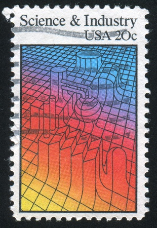 salience: UNITED STATES - CIRCA 1983: stamp printed by United States of America, shows machinery, circa 1983 Stock Photo