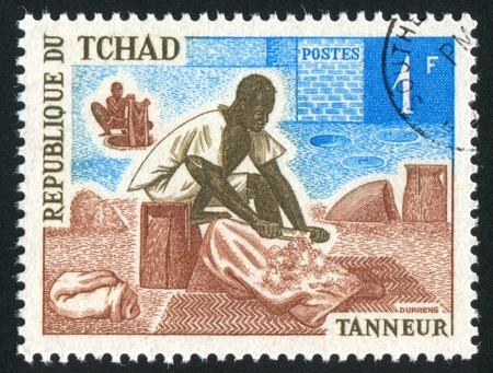 CHAD CIRCA 1970: stamp printed by Chad, shows Tanner, circa 1970