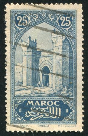 MOROCCO - CIRCA 1980 stamp printed by Morocco, shows Mosque, circa 1980 photo
