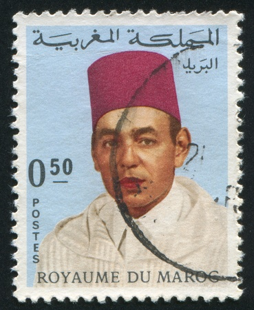 MOROCCO - CIRCA 1962 stamp printed by Morocco, shows King Hassan II, circa 1962