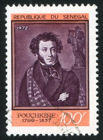 aleksander: SENEGAL - CIRCA 1931: stamp printed by Senegal, shows Aleksander Pushkin, circa 1931.