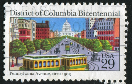 UNITED STATES - CIRCA 1991: stamp printed by United States of America, shows Capitol building from Pennsylvania avenue , circa 1991 Stock Photo - 11082893