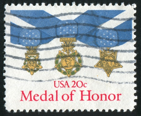 UNITED STATES - CIRCA 1983: stamp printed by United States of America, shows medal of honour, circa 1983 Stock Photo - 11082850