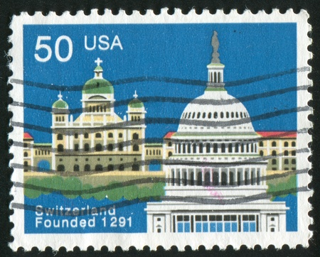 UNITED STATES - CIRCA 1991 : stamp printed by United States of America, shows church, circa 1991 Stock Photo - 11082819