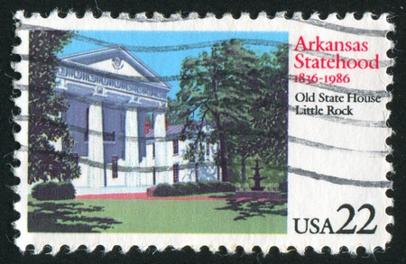 UNITED STATES -CIRCA 1986: stamp printed by United States of America, shows Old State building, Little Rock, circa 1986 photo