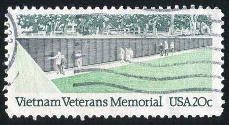 UNITED STATES - CIRCA 1984: stamp printed by United States of America, shows Memorial Wall, circa 1984 photo