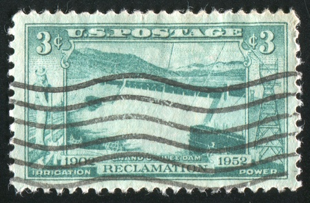 UNITED STATES - CIRCA 1952: stamp printed by United States of America, shows dam, circa 1952 photo