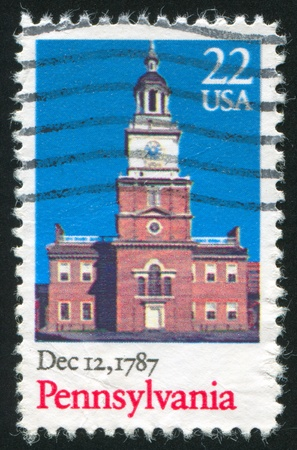 UNITED STATES - CIRCA 1963: stamp printed by United States of America, shows church, circa 1963 photo
