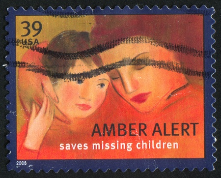 UNITED STATES - CIRCA 2006: stamp printed by United States of America, shows mother and child, circa 2006 Stock Photo - 11082743