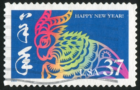 UNITED STATES - CIRCA 2003: stamp printed by United States of America, shows year of the ram, circa 2003 photo