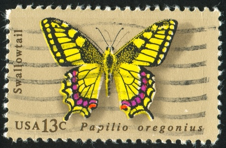 UNITED STATES - CIRCA 1977: stamp printed by United States of America, shows butterfly Swallowtail, circa 1977 photo