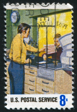 case sheet: UNITED STATES - CIRCA 1973: stamp printed by United States of America, shows stamp counter, circa 1973