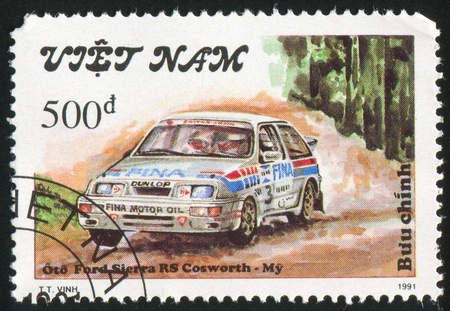 VIET NAM - CIRCA 1991: stamp printed by Viet Nam, shows Ford Sierra, circa 1991 Stock Photo - 11082673