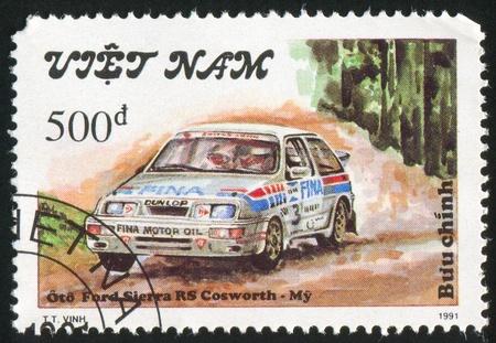 VIET NAM - CIRCA 1991: stamp printed by Viet Nam, shows Ford Sierra, circa 1991 Stock Photo - 11082673