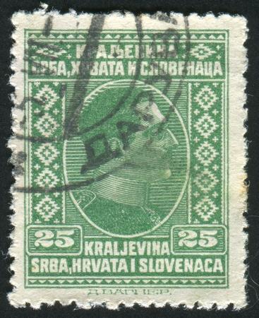 YUGOSLAVIA - CIRCA 1926: stamp printed by Yugoslavia, shows King Alexander, circa 1926 Stock Photo - 11130782