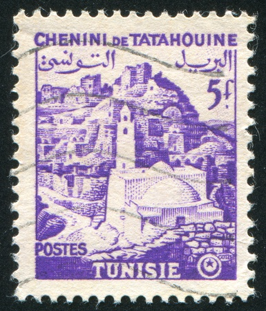 TUNISIA - CIRCA 1954: stamp printed by Tunisia, shows Tatahouine, circa 1954. photo