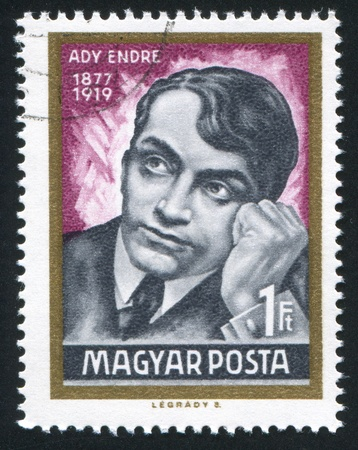 ady: HUNGARY - CIRCA 1969: stamp printed by Hungary, shows Endre Ady, circa 1969 Editorial