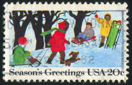 UNITED STATES - CIRCA 1982: stamp printed by United States, shows Children, circa 1982 photo