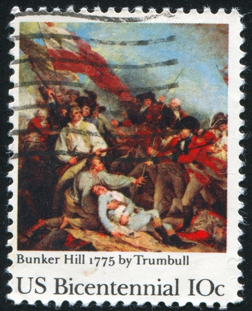 UNITED STATES - CIRCA 1951: stamp printed by United States, shows Battlefield, circa 1951 photo