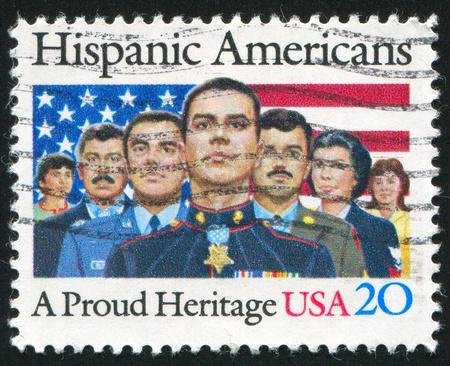 hispanic americans: UNITED STATES - CIRCA 1984: stamp printed by United States, shows Hispanic Americans, circa 1984