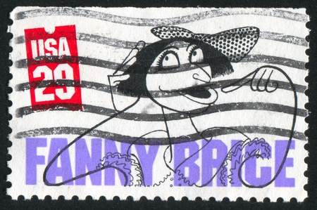 fanny: UNITED STATES - CIRCA 1991: stamp printed by United States of America, shows caricature of Fanny Brice, circa 1991 Editorial