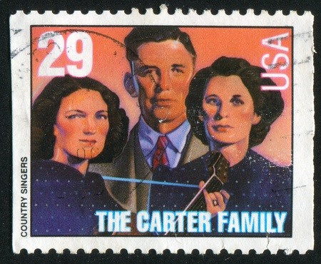 UNITED STATES - CIRCA 1993: stamp printed by United States of America, shows The Carter family, circa 1993 Stock Photo - 11264700