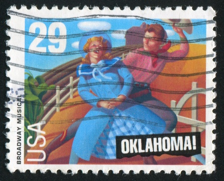 UNITED STATES - CIRCA 1993: stamp printed by United States of America, shows heroes of musical Oklahoma, circa 1993 Stock Photo - 11261233