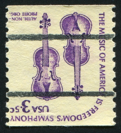 UNITED STATES - CIRCA 1980: stamp printed by United States of America, shows violins, circa 1980 photo