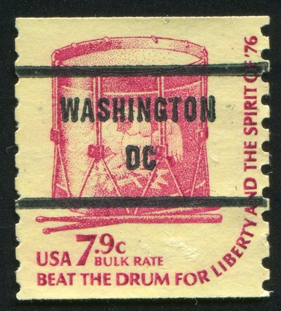 UNITED STATES - CIRCA 1978: stamp printed by United States of America, shows drum, circa 1978 photo
