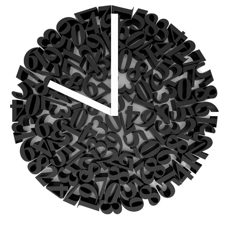 High resolution image. 3d rendered illustration. The original clock face. illustration