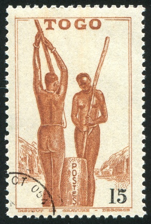 TOGO - CIRCA 1941: stamp printed by Togo, shows Togolese Women, circa 1941 photo