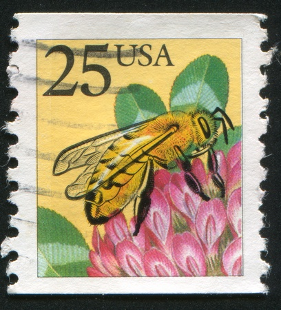 UNITED STATES - CIRCA 1988: stamp printed by United States of America, shows honeybee, circa 1988 photo