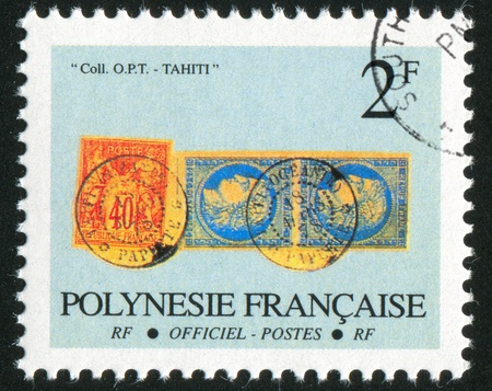 FRENCH POLYNESIA CIRCA 1993: stamp printed by French Polynesia, shows French Colonies, circa 1993 Stock Photo - 11371162