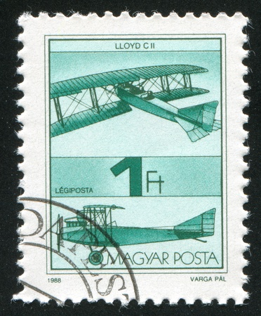 HUNGARY - CIRCA 1988: stamp printed by Hungary, shows aeroplane, circa 1988 photo