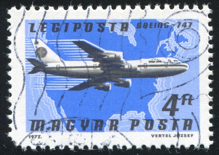 HUNGARY - CIRCA 1977: stamp printed by Hungary, shows plane, circa 1977 Stock Photo - 11371022