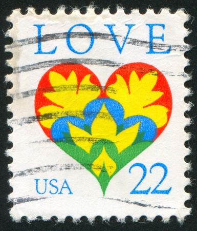 UNITED STATES - CIRCA 1987: stamp printed by United States of America, shows heart, circa 1987 photo