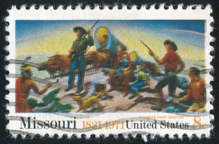 UNITED STATES - CIRCA 1971: stamp printed by United States of America, shows picture