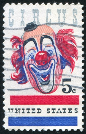 make public: UNITED STATES - CIRCA 1966: stamp printed by United States of America, shows clown, circa 1966