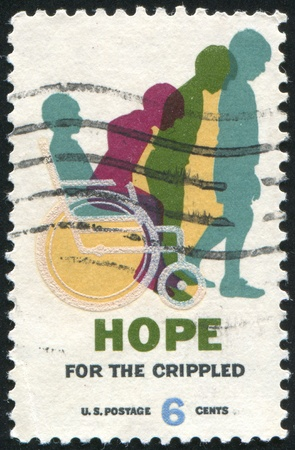 crippled: UNITED STATES - CIRCA 1969: stamp printed by United States of America, shows cured children, circa 1969