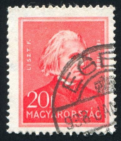 liszt: HUNGARY - CIRCA 1932: stamp printed by Hungary, shows Franz Liszt, circa 1932