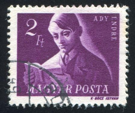 ady: HUNGARY - CIRCA 1947: stamp printed by Hungary, shows Andreas Ady, circa 1947