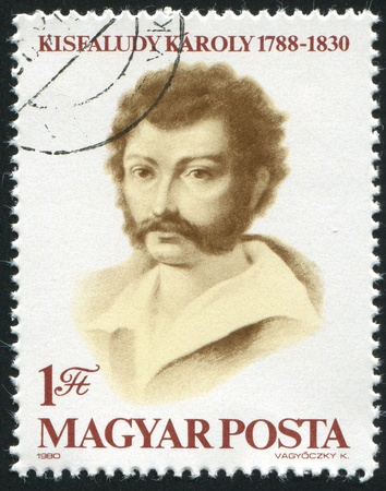 dramatist: HUNGARY - CIRCA 1980: stamp printed by Hungary, shows Karoly Kisfaludy Poet and Dramatist, circa 1980