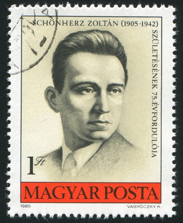 anti fascist: HUNGARY - CIRCA 1980: stamp printed by Hungary, shows Zoltan Schonherz, Anti-fascist, circa 1980