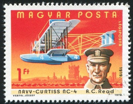 HUNGARY - CIRCA 1978: stamp printed by Hungary, shows aeroplane, A. C. Read, circa 1978