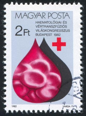 hematology: HUNGARY - CIRCA 1982: stamp printed by Hungary, shows World Hematology Congress, Budapest, circa 1982
