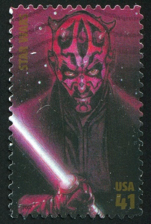 maul: UNITED STATES - CIRCA 2007: stamp printed by United states, shows Star Wars, Darth Maul, circa 2007 Editorial