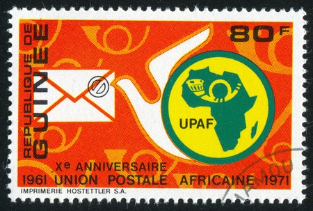 GUINEA CIRCA 1972: stamp printed by Guinea, shows Carrier Pigeon, circa 1972 photo