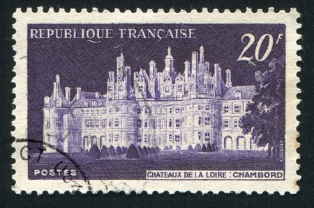 FRANCE - CIRCA 1952: stamp printed by France, shows Chateau de Chambord, circa 1952 photo